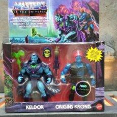 Figuras Masters del Universo: PACK DE FIGURAS RISE OF EVIL KELDOR & ORIGINS KRONIS 14 CM - MASTERS OF THE UNIVERSE ORIGINS - MATTE. Lote 294456573