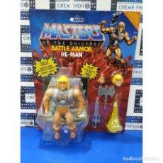 Figuras Masters del Universo: FIGURA HE-MAN BATTLE ARMOR 14 CM - MASTERS OF THE UNIVERSE ORIGINS - MATTEL. Lote 294462878