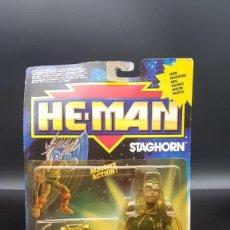 Figuras Masters del Universo: MASTERS DEL UNIVERSO HE MAN ADVENTURES STAGHORN MOC MOTU 1990 MATTEL. Lote 295524093