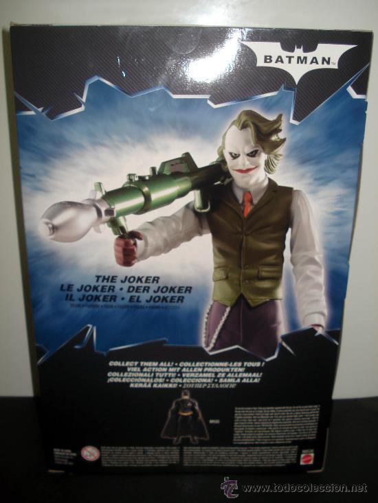 Figuras y Muñecos DC: JOKER - THE DARK KNIGHT - EL CABALLERO OSCURO - MATTEL 2008 ¡NUEVA A ESTRENAR! - Foto 2 - 28321259