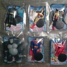 Figuras y Muñecos DC: PHOSKITOS 2006 JUSTICE LEAGUE.BATMAN,SUPERMAN,FLASH,WONDERWOMAN,HAWKGIRL Y GROOO,COLECCIÓN COMPLETA. Lote 41690675