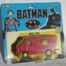 Figuras y Muñecos DC: BATMAN ERTL, JOKER VAN, METALICA, AÑO 1989, EN BLISTER. CC. Lote 41829009