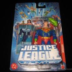 Figuras y Muñecos DC: FIGURA SUPERMAN UNLIMITED JUSTICE LEAGUE CON CARTA BLISTER PRECINTADO MATTEL. Lote 99450410