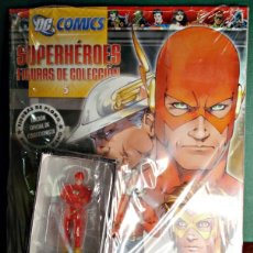 Figuras y Muñecos DC: FLASH DC COMICS SUPERHEROES FIGURAS DE COLECCIÓN Nº5 INCLUYE FIGURA PLOMO DE FLASH PINTADA A MANO. Lote 46299581