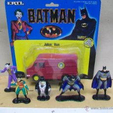 Figuras y Muñecos DC: LOTE ERTL BATMAN - BATMAN,JOKER,PINGÜINO,ROBIN DC COMICS. Lote 47887793
