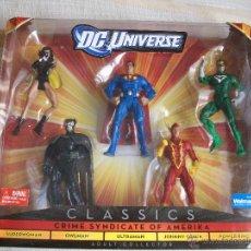 Figuras y Muñecos DC: DC UNIVERSE CLASSICS PACK SINDICATO DEL CRIMEN, LIGA DE LA INJUSTICIA, SUPERMAN, BATMAN, EN CAJA. Lote 48163291