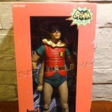 Figuras y Muñecos DC: BATMAN - FIGURA ROBIN - CLASSIC TV SERIES 1966 - ESCALA 1/4 - 45 CM - MUY GRANDE - BURT WARD - NECA. Lote 54812086