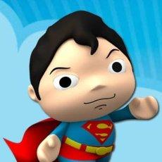 Figuras y Muñecos DC: LITTLE MATES SUPERMAN PVC MEDIDAS 5 CTMS NUEVO A ESTRENAR. Lote 58582898