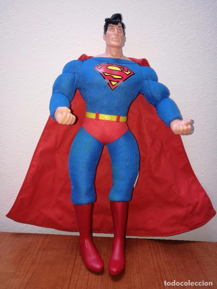 SUPERMAN - MUÑECO SUPERMAN DE PLASTICO Y FIBRA DE POLYESTER, PARK WARNER BROS, MIDE 35 CM!!! SBB (Juguetes - Figuras de Acción - DC)