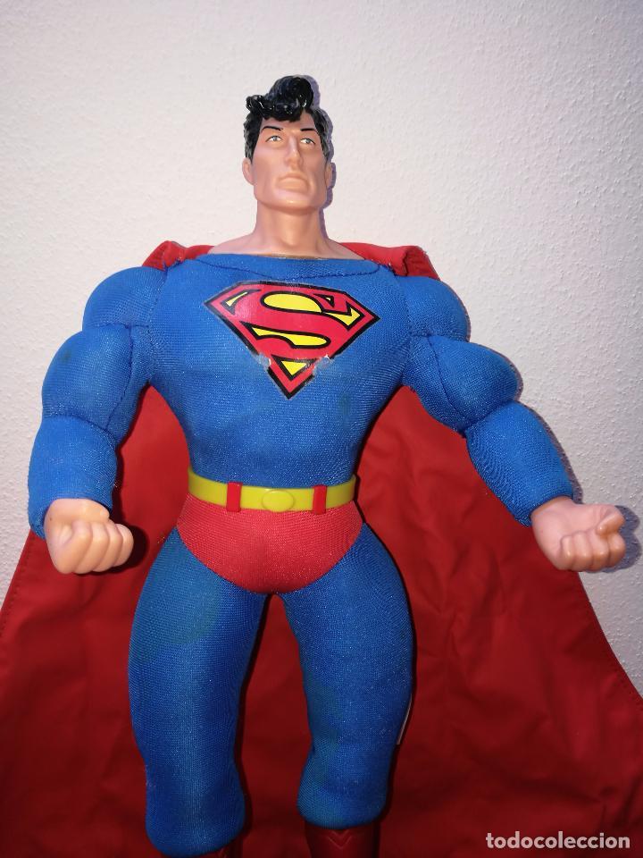 Figuras y Muñecos DC: SUPERMAN - MUÑECO SUPERMAN DE PLASTICO Y FIBRA DE POLYESTER, PARK WARNER BROS, MIDE 35 CM!!! SBB - Foto 3 - 64891811