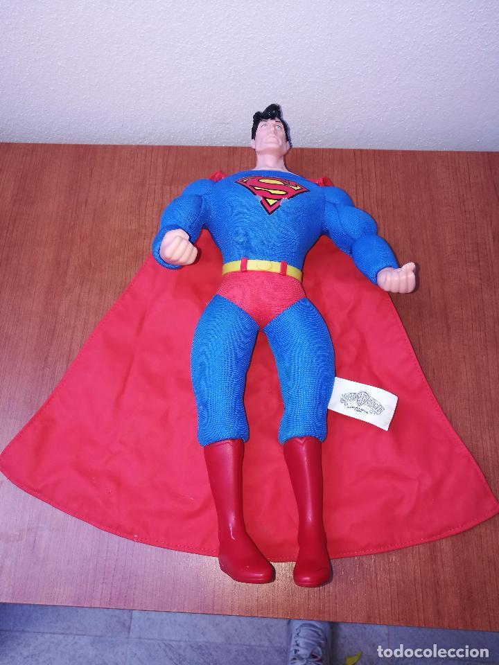 Figuras y Muñecos DC: SUPERMAN - MUÑECO SUPERMAN DE PLASTICO Y FIBRA DE POLYESTER, PARK WARNER BROS, MIDE 35 CM!!! SBB - Foto 9 - 64891811