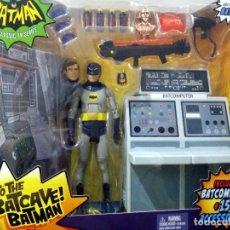 Figuras y Muñecos DC: FIGURA ARTICULADA BATMAN ADAM WEST EN BATCUEVA CON CABEZAS INTERCAMBIABLES Y MUCHOS ACCESORIOS. Lote 71138833