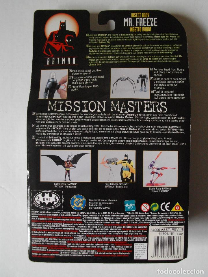 Figuras y Muñecos DC: FIGURA BATMAN MISSION MASTERS - MR. FREEZE INSECT BODY - 1998 - HASBRO - NUEVA - Foto 2 - 74340623