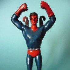 Figuras y Muñecos DC: SUPERMAN PARACAIDISTA ANTIGUA FIGURA BOOTLEG DE PLASTICO DURO DE 12 CM. Lote 84943932