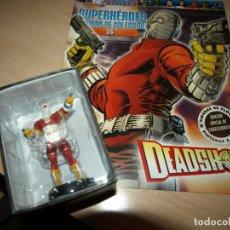 Figuras y Muñecos DC: FIGURA DE PLOMO - DEADSHOT - DC COMIC - SUPERHEROES - FIGURAS DE COLECCIÓN - CON FASCICULO. Lote 91162800