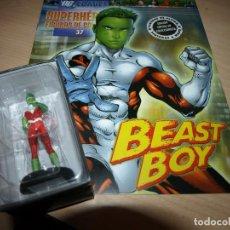 Figuras y Muñecos DC: FIGURA DE PLOMO - BEAST BOY - DC COMIC - SUPERHEROES - FIGURAS DE COLECCIÓN - CON FASCICULO. Lote 91163770