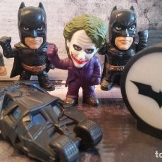 Figuras y Muñecos DC: LOTE DE FIGURAS DE BATMAN BEGINS CEREALES KELLOGS KELLOGGS BURGER KING JOKER ESPANTAPAJAROS BATMOVIL. Lote 95425391