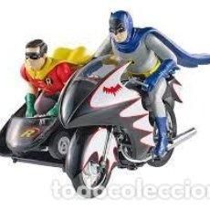 Figuras y Muñecos DC: IMPRESIONANTE BATCYCLE BATMAN Y ROBIN ESCALA 1/12 HOT WHEELS NUEVO SIN ABRIR. Lote 102620631