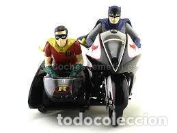 Figuras y Muñecos DC: IMPRESIONANTE BATCYCLE BATMAN Y ROBIN ESCALA 1/12 HOT WHEELS NUEVO SIN ABRIR - Foto 5 - 102620631