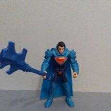 Figuras y Muñecos DC: FIGURA - SUPERMAN - AZUL - CON ESCUDO Y ARMA - ALTURA 10CM. Lote 108404067