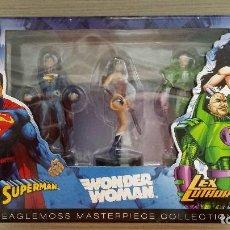 Figuras y Muñecos DC: WONDER WOMAN, SUPERMAN Y LEX LUTHOR JUSTICE LEAGUE BOX SET (EAGLEMOSS MASTERPIECE COLECCTION). Lote 115243183