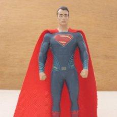 Figuras y Muñecos DC: FIGURA EN GOMA FLEXIBLE SUPERMAN CAPA DE TELA DECADA 80 FABRICANTE NJ GROCE VER FOTOS ADICCIONALES. Lote 116320479