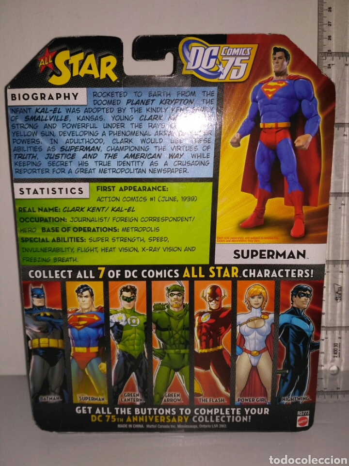 Figuras y Muñecos DC: Figura de acción superman dc universe cómics 75 years of super power - Foto 2 - 117474128