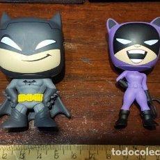 Figuras y Muñecos DC: BATMAN Y CATWOMAN - FUNKO MYSTERY MINIS - 7 CM ALTURA - EN PERFECTO ESTADO - DC UNIVERSE. Lote 126679347