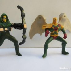 Figuras y Muñecos DC: GREEN ARRON -FLECHA VERDE Y HAWKMAN -HOMBRE ALCON- DC COMICS MCDONALDS.. Lote 127899671