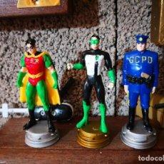 Figuras y Muñecos DC: 3 FIGURAS AJEDREZ SUPER HÉROES DC COMIC. Lote 128207399