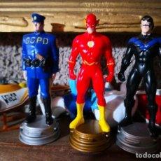 Figuras y Muñecos DC: 3 FIGURAS AJEDREZ SUPER HÉROES DC COMIC. Lote 128207447