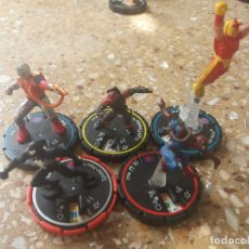 Figuras y Muñecos DC: LOTE 5 FIGURAS .SERIE SPIDER-MAN. DC/HEROCLIX/MARVEL. Lote 129381083