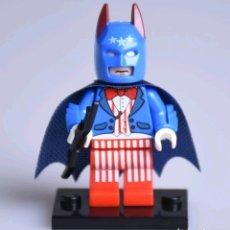 Figuras y Muñecos DC: MINIFIGURA COMPATIBLE CON LEGO BATMAN CON TRAJE DE CAPITÁN AMÉRICA NUEVO EN BOLSA SELLADA FIGURA. Lote 131104557