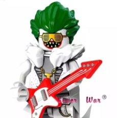 Figuras y Muñecos DC: MINIFIGURA COMPATIBLE CON LEGO BATMAN JOCKER ROCK ROCKERO NUEVO BOLSA SELLADA EDICIÓN VERANO MUÑECO. Lote 131104849