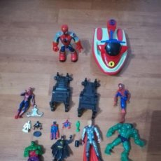 Figuras y Muñecos DC: LOTE DE FIGURAS DC SPIDERMAN, THOR, BATMAN, HULK LA MASA. Lote 137183070