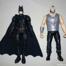 Figuras y Muñecos DC: PACK 2 FIGURAS ARTICULADAS BATMAN & BANE. SAGA DARK NIGHT RISES. DC MATTEL. 3,75'' (10CM). Lote 138709973