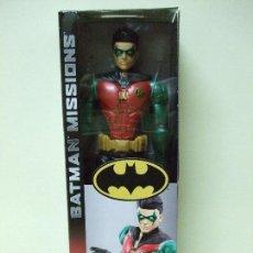 Figuras y Muñecos DC: FIGURA ROBIN 30 CM 12 PULGADAS BATMAN MISSIONS MATTEL DC COMICS COMIC TRUE MOVES. Lote 156620926