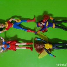 Figuras y Muñecos DC: BONITO LOTE PROMOCIONAL DE 4 SUPER HEROÍNAS DE DC CÓMICS. WONDER WOMAN BATGIRL SUPERGIRL AVISPA. Lote 151177742