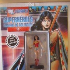 Figuras y Muñecos DC: FIGURA DE PLOMO WONDER WOMAN DC ALTAYA, CON CAJA Y REVISTA. Lote 157285250