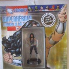 Figuras y Muñecos DC: FIGURA DE PLOMO DONNA TROY DC ALTAYA, CON CAJA Y REVISTA. Lote 157286730