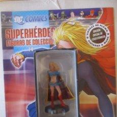 Figuras y Muñecos DC: FIGURA DE PLOMO SUPERGIRL DC ALTAYA, CON CAJA Y REVISTA. Lote 157287414