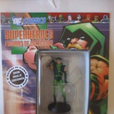 Figuras y Muñecos DC: FIGURA DE PLOMO GREEN ARROW DC ALTAYA, CON CAJA Y REVISTA, VER FOTOS. Lote 157290106