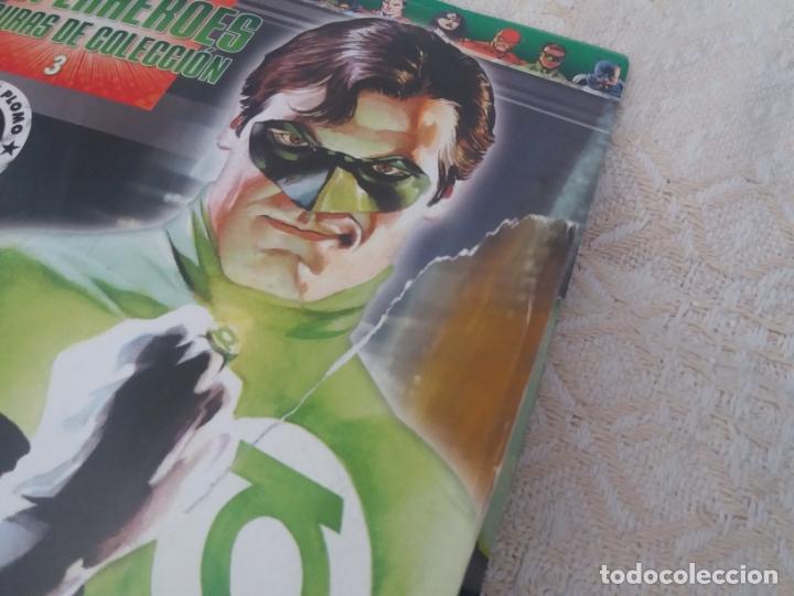 Figuras y Muñecos DC: DC SUPER HEROES FIGURA PLOMO LINTERNA VERDE GREEN LANTERN BLISTER CON FASCÍCULO N3 ALTAYA - Foto 3 - 168337404