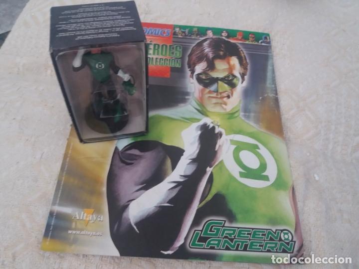 DC SUPER HEROES FIGURA PLOMO LINTERNA VERDE GREEN LANTERN BLISTER CON FASCÍCULO N3 ALTAYA (Juguetes - Figuras de Acción - DC)