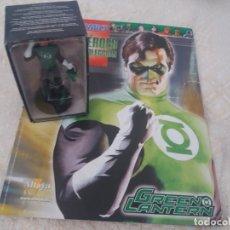Figuras y Muñecos DC: DC SUPER HEROES FIGURA PLOMO LINTERNA VERDE GREEN LANTERN BLISTER CON FASCÍCULO N3 ALTAYA. Lote 168337404