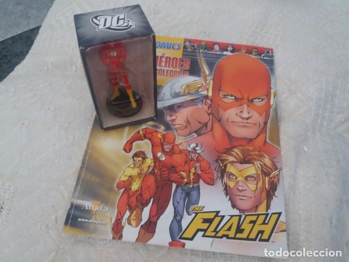RESERVADO DC SUPER HEROES FIGURA PLOMO FLASH BLISTER CON FASCÍCULO N 5 ALTAYA (Juguetes - Figuras de Acción - DC)