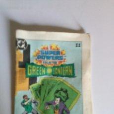 Figuras y Muñecos DC: DIFICILISIMO MINICOMIC AUTENTICO DE GREEN LANTERN LINTERNA VERDE 1984 KENNER SUPER POWERS DC HEROES. Lote 171996273