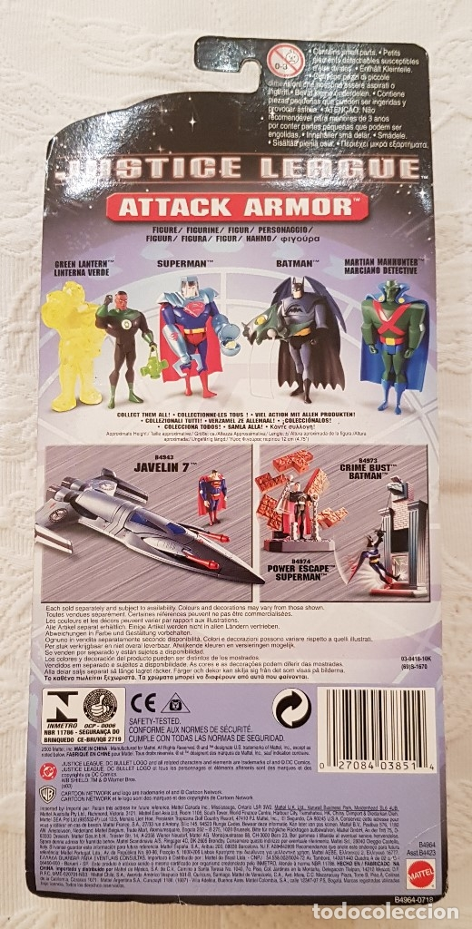Figuras y Muñecos DC: GREEN LANTERN LINTERNA VERDE JUSTICE LEAGUE ATTACK ARMOR MATTEL EN BLISTER 2003 - Foto 2 - 175826164