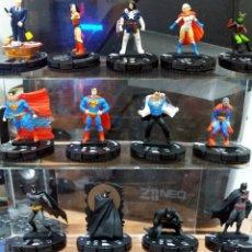 Figuras y Muñecos DC: LOTE 13 FIGURAS HEROCLIX MARVEL DC SUPERMAN BATMAN JARVIS POWER GIRL NOMAD WONDER WOMAN MANTIS . Lote 176444767