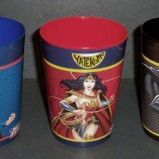 Figuras y Muñecos DC: VASOS JUSTICE LEAGUE: SUPERMAN, WONDER WOMAN Y BATMAN - ¡NUEVOS!. Lote 199369371